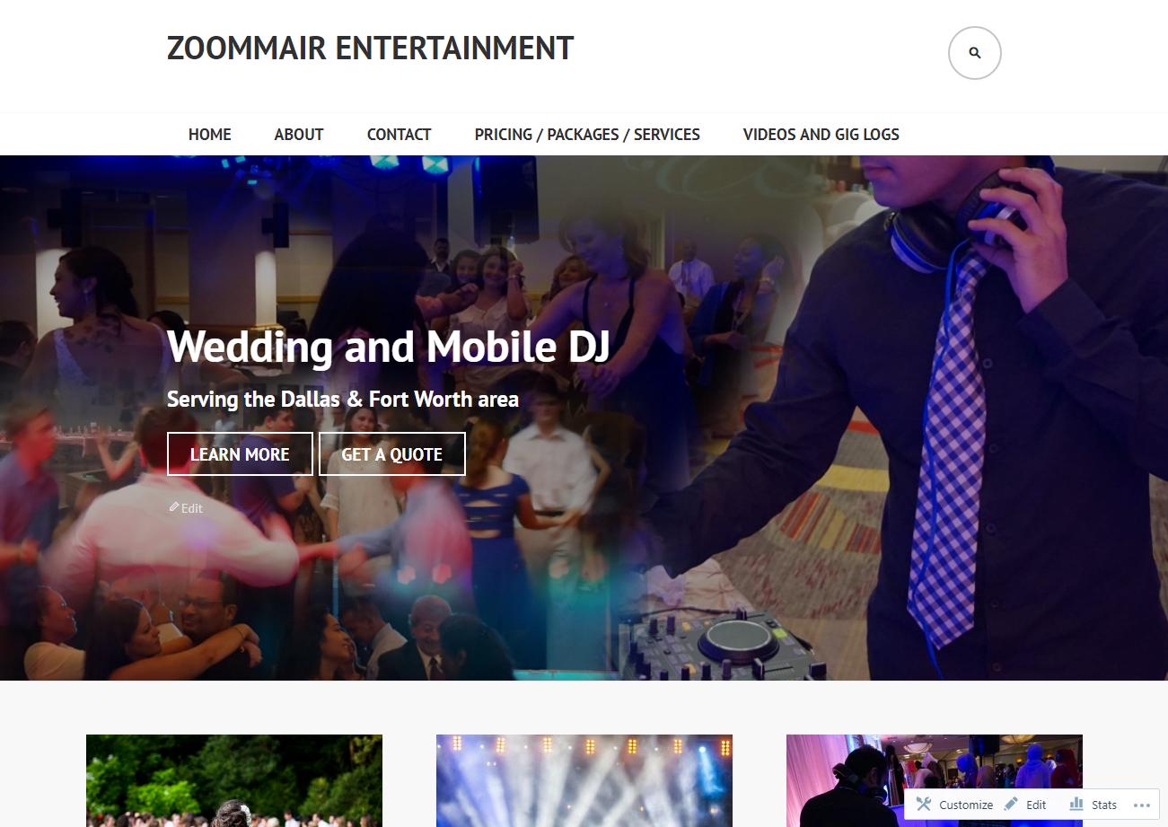 Zoommair Entertainment WordPress