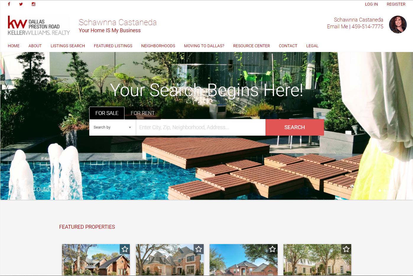 Immaculate Homes DFW – Placester Site