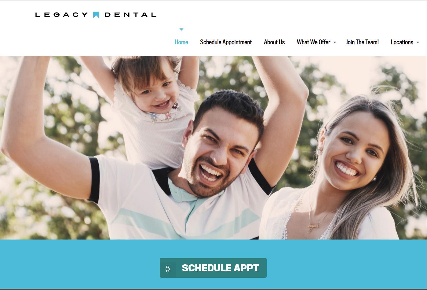 Legacy Dental DFW WordPress